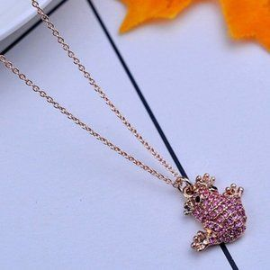 Kate Spade Pink Zircon Frog Necklace